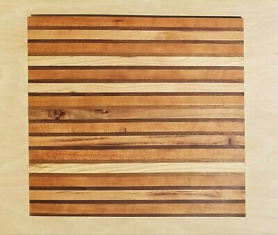 Handmade wooden CUTTING board Cherry and Hickory wood Charcuterie made in USA