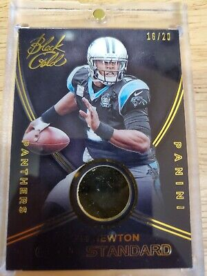 Cam Newton 2014 Black Gold Gold Standard 14K Gold /20 Carolina Panthers Panini