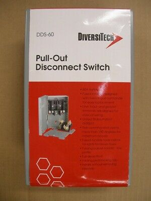 for Air Conditioner * New Diversitech DDS-60 Pull-Out Disconnect Switch 60 Amp