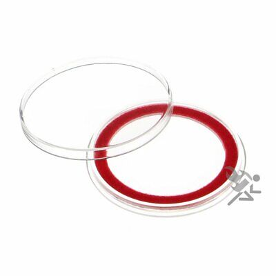 (3) Air-tite 39mm Red Velour Colored Ring Coin Holder Capsules for 1oz Silver &