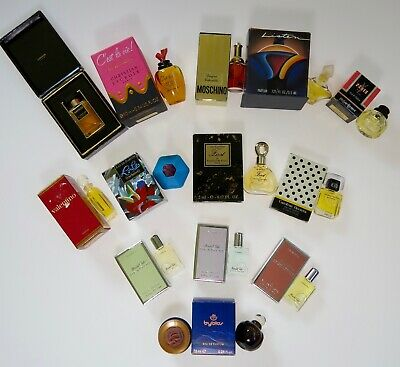 Lot Of 26 Miniature Mini Fragrance Perfume Parfum Bottles New And Used
