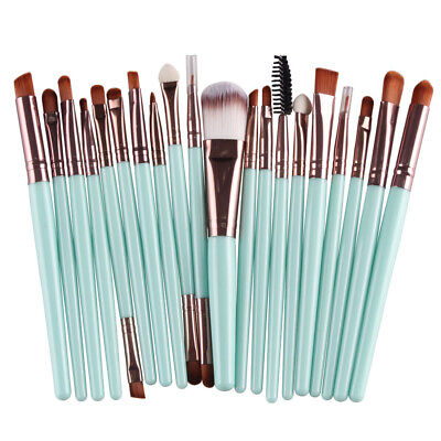 20pcs Makeup Brushes Kit Set Foundation Eyeshadow Eyeliner Lip Brush Tool LK