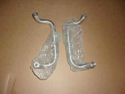 Lot Of (2) Heavy Solid Stainless Finish Us32D Door Pull Handles