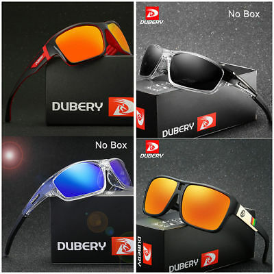 2019 DUBERY Mens Square Polarized Sunglasses Sport Outdoor Riding Fishing Gifts