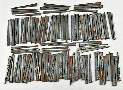"Over 100 Square Cut Wrought Iron 2 1/4"" Nails Crafts Restoration La Belle WV USA"