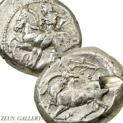 Nude Youth HORSE Goat .Cilicia Kelenderis 425BC Ancient Greek Silver Stater Coin