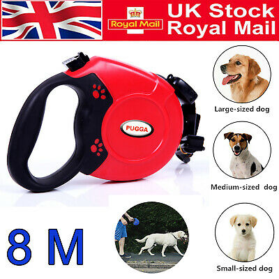 8-50KGS Large Dog Lead Leash Strongs Retractable Extendables Lockable Tape 8M