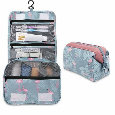 Women Flamingo Cosmetic Make-up Bag Toiletry Washing Case Travel Pouch Holder X2