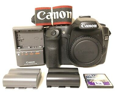 CANON EOS 40D 10 1MP Digital SLR Camera (Body Only) 14027 Clicks Battery  Charger