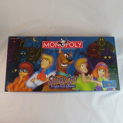 2000 Hasbro Scooby Doo Fright Fest Edition Monopoly - Complete