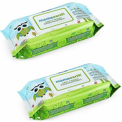Organic Bamboo Based  Mamaearth Wipes (White, 2) - Set of 72 Pieces