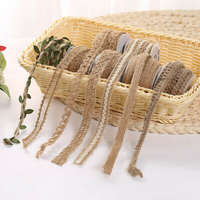 Craft Rustic Jute Hessian Burlap Twine String Cord Rope Leaves Ribbon Paty Decor