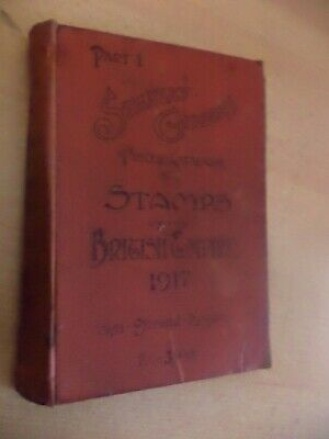 Stanley Gibbons British Postage Stamps Catalogue Book Old Antique 1917 1900S