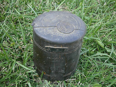 Antique Vintage Wooden Box For Spices With Lid And With Dark Patina