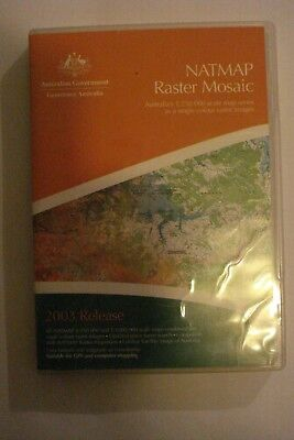 - Natmap Raster Mosaic [Pc Cd-Rom X2] By Geoscience Australia [Brand New]