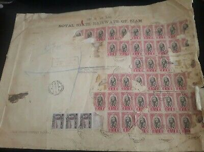 Antique Envelope With Stamps Of SIAM from the Royal state Railways