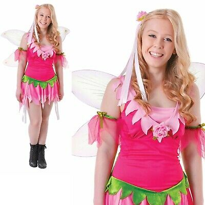 Girls Deluxe Fairy Costume Childs Forest Woodland Nymph Fancy Dress Outfit New
