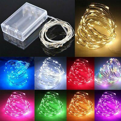 20/30/100 LED Battery Wire Copper Fairy String Lights Wedding Christmas Party