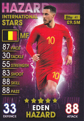 TOPPS MATCH ATTAX 101 - 2019 - Eden Hazard - Belgium - 41 - INTERNATIONAL STARS
