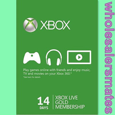 Xbox Live 14 Days Trial Gold Membership 2 Week Card for Xbox One Only  Instant