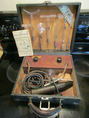 Antique medical device RENULIFE model M violet ray generator Working