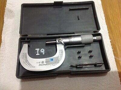 """Mitutoyo 101-114 1"""" - 2"""" Micrometer Boxed  Lathe Cnc Live Steam"""