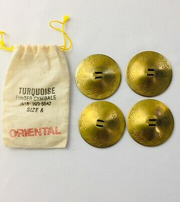 2 Pair Finger Cymbals Brass Belly Dance Dancer Costume Party NEW J9H6