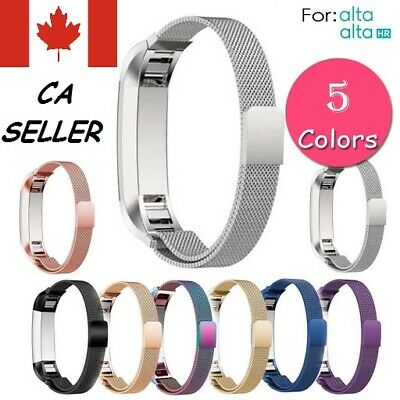 Fitbit Alta HR Stainless Steel band Bracelet Watch Strap [Compatible Size S/L]