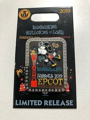Disney World Epcot Illuminations Farewell Limited Release Mickey Pin