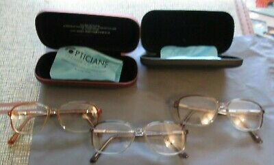 Vintage Look kitsch? 4 Pairs of 1980`s look Retro Style Specticles 3 with Cases