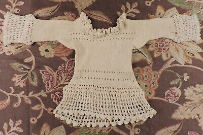 Antique Victorian Hand Knit Child'S Sweater Great For Doll