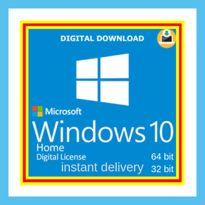 windows 10 Home Win Bit 64 32 bit Activation Code product License Original Key