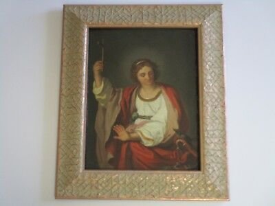 18Th To 19Th Century Old Master Painting Religious Icon Portrait And Beast Rare