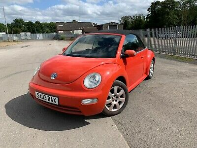 VW Beetle Convertible Orange