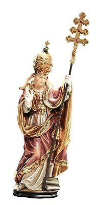 Statue Wholesale st Agathon cm 20 Carved Wooden of Valgardena Decorated by Hand