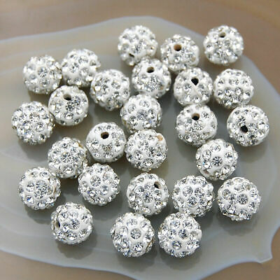 10mm Rhinestone Crystal Wholesale Shamballa Beads Loose Bead 100pcs  Beading
