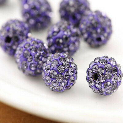 10mm Rhinestone Crystal Round Disco Ball Shamballa Beads 100pcs  Beading