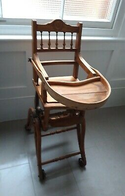 Antique Victorian Metamorphic High Chair