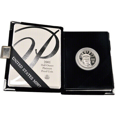 2001-W American Platinum Eagle Proof 1/2 oz $50 in OGP
