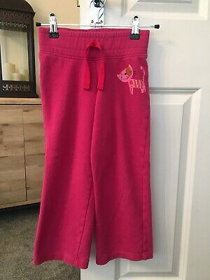 Next Wide Leg Pink Cat Motif Joggers. 6 Years