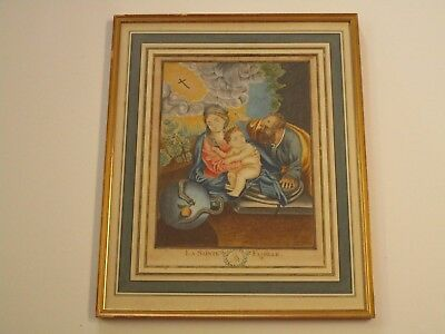 19Th Century Old Master Painting Antique   Museum Quality Icon Saint Madonna