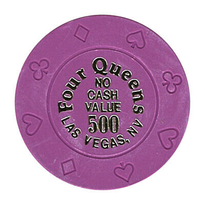 (1) Four Queens Casino Las Vegas NV $500 NCV Chip 8 Suits Mold *