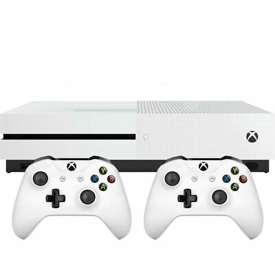 Xbox One S 1TB with Dual Controller White