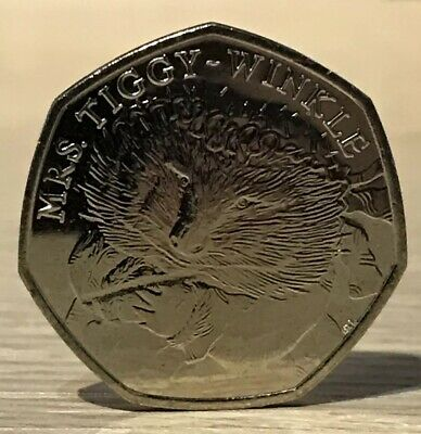 Rare 2016 Beatrix Potter 50p Coin Mrs Tiggy Winkle Uncirculated From Sealed Bag