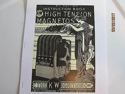 1928 K-W Ignition Corp Magneto Manual 9th Edition