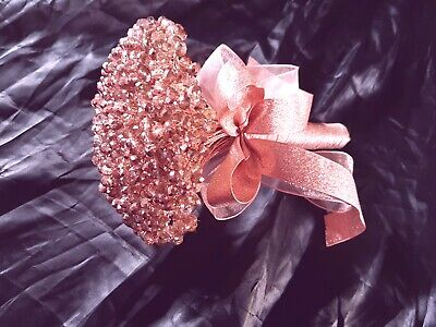 Crystal  'Rose gold ' Wedding brides crystal Bouquet  6""