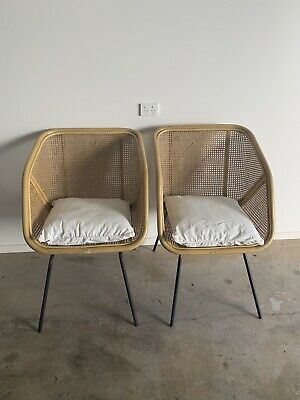 2 x Byron Bay rattan cane indoor/outdoor chairs