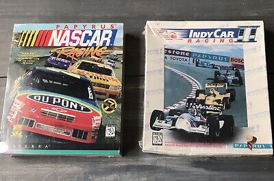 Nascar Racing's And Indy Racing by Papyrus 1995 1996 Car Race Game/ Sealed!