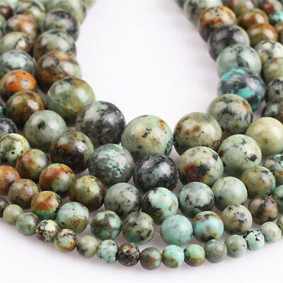 4-12mm Natural African Turquoise Loose Beads Diy Accessories Styles Healing