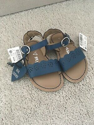 Next Girls Shoes Sandals Size 3 Infant Baby Blue Summer Holiday Real Leather NEW